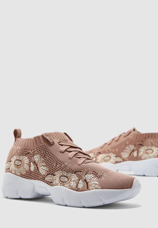 Floral Print Low Top Sneaker
