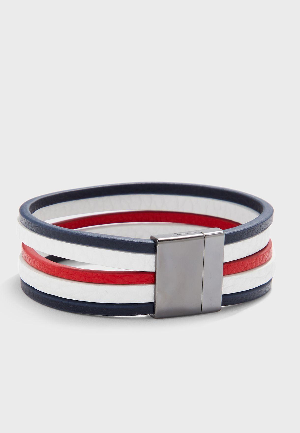 Tricolour Push Lock Bracelet