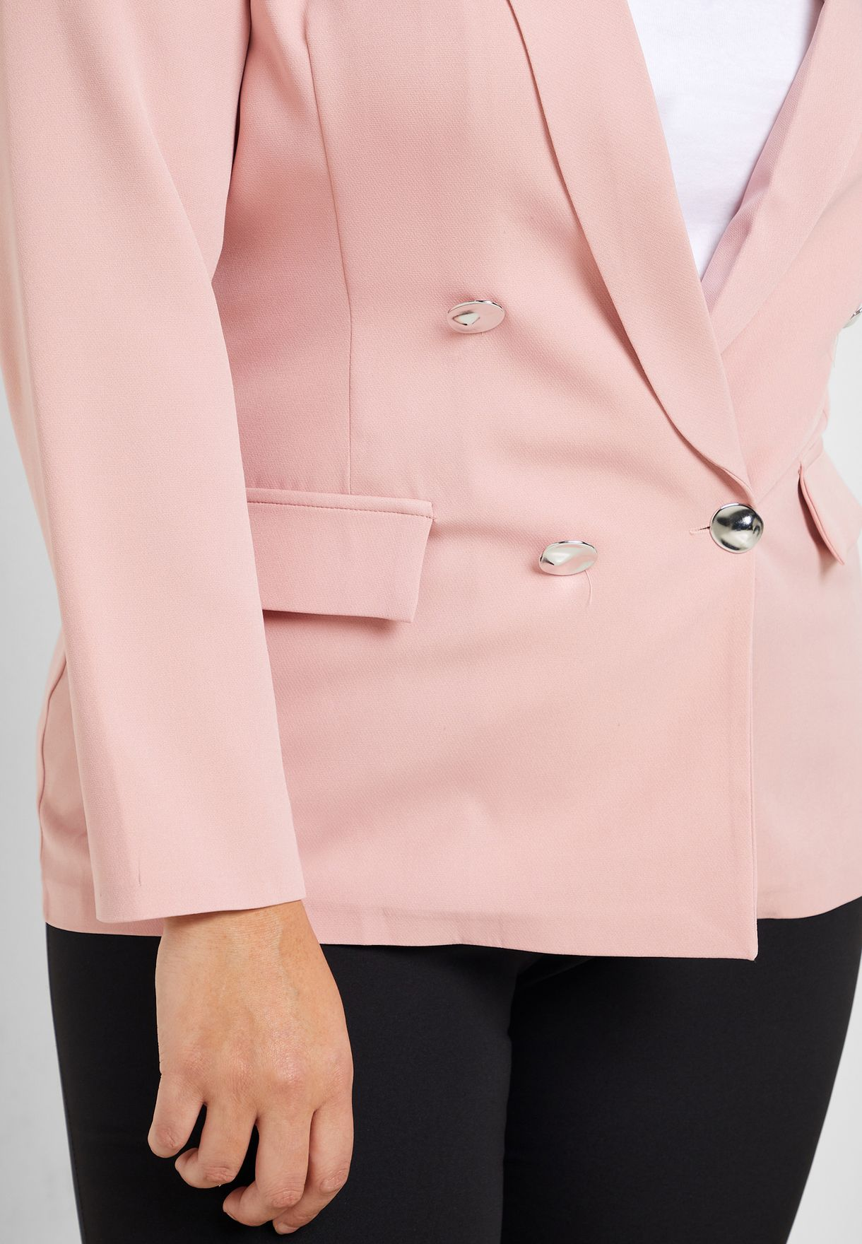 Core Double Breasted Pocket Blazer