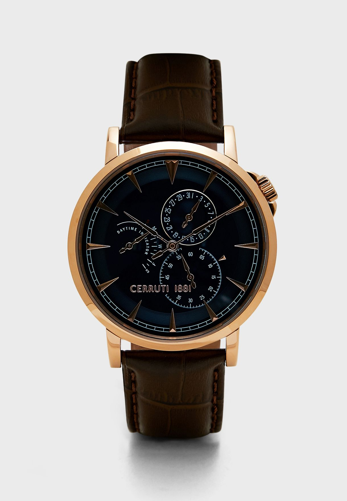 26e9d22feb Shop Cerruti 1881 brown C CRWA24903 Caiano Watch C CRWA24903 for Men ...