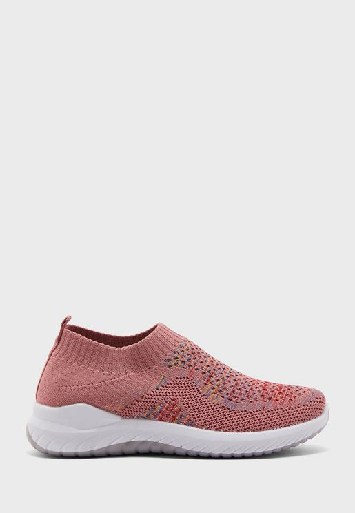 Breathable Knit Pull On Comfort Shoes