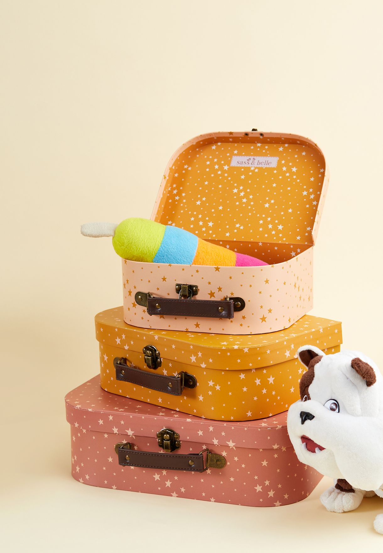 Set Of 3 Little Stars Suitcases