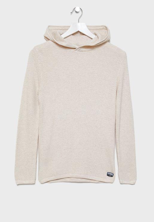 Kids Honeycomb Sweater Hoodie