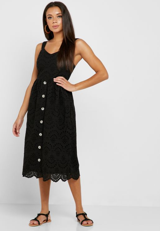 Broderie Button Down Dress