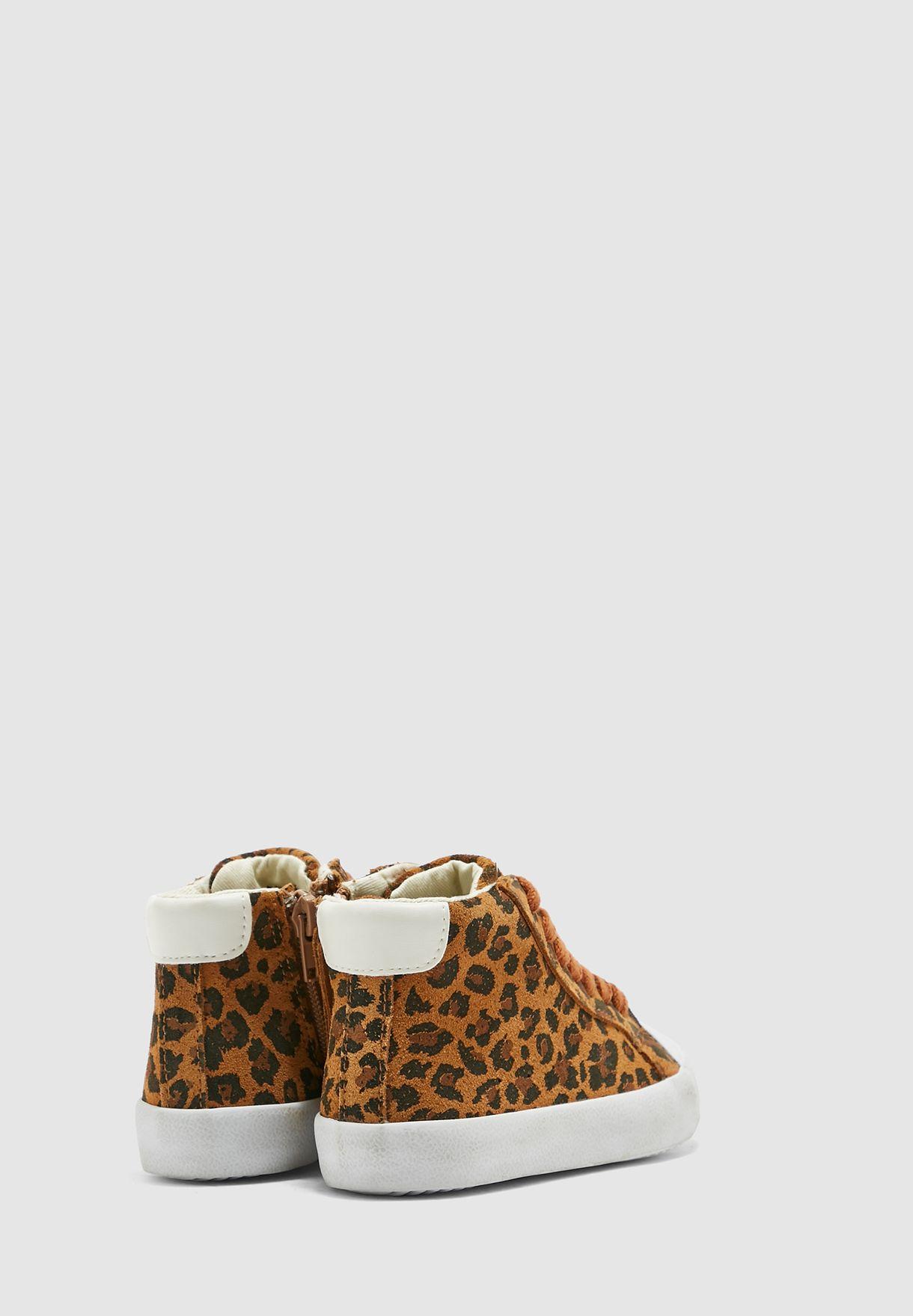 Kids Leopard Print Sneaker