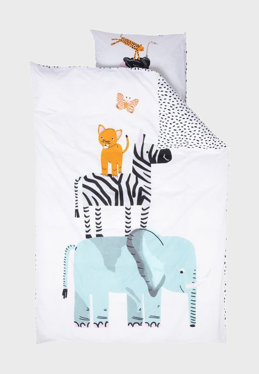 Kids Animal Printed Bedding Set 140x200cm