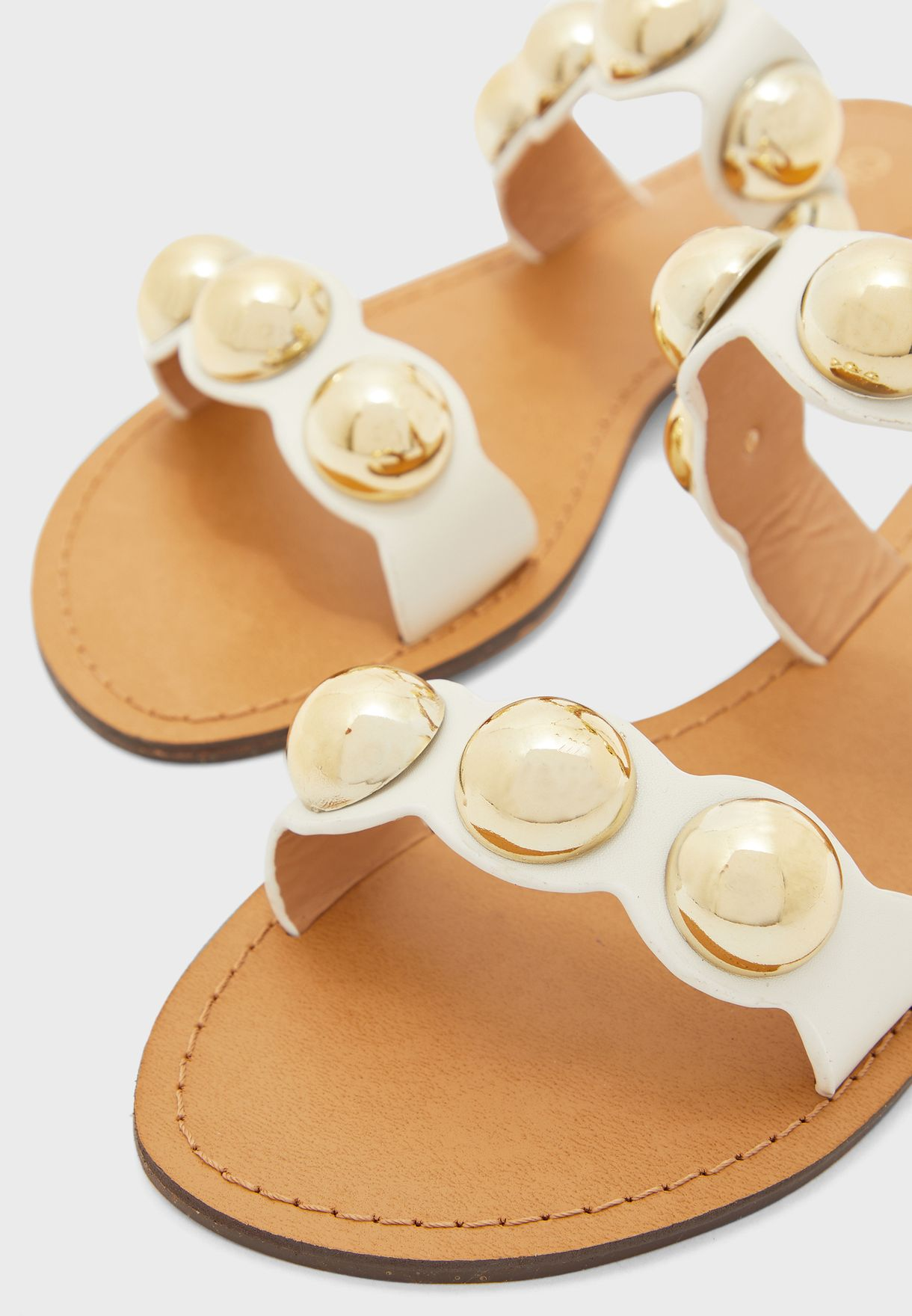 Sandals In Scallop Detail