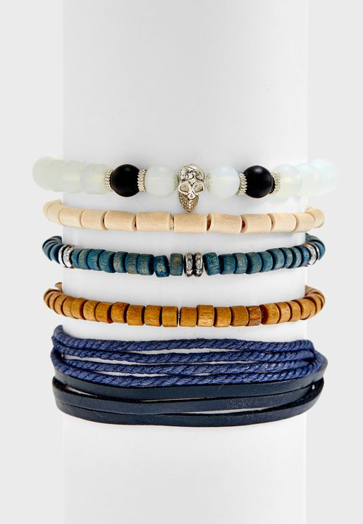 5 Pack Assorted Bracelet Set