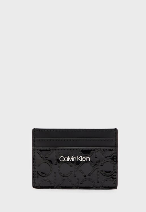 Textured Multi Compartment Card Holder