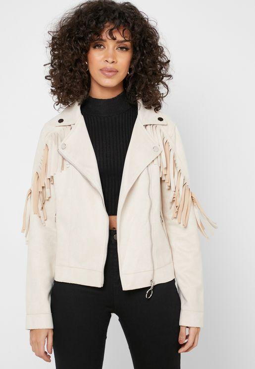 Suedette Fringed Jacket