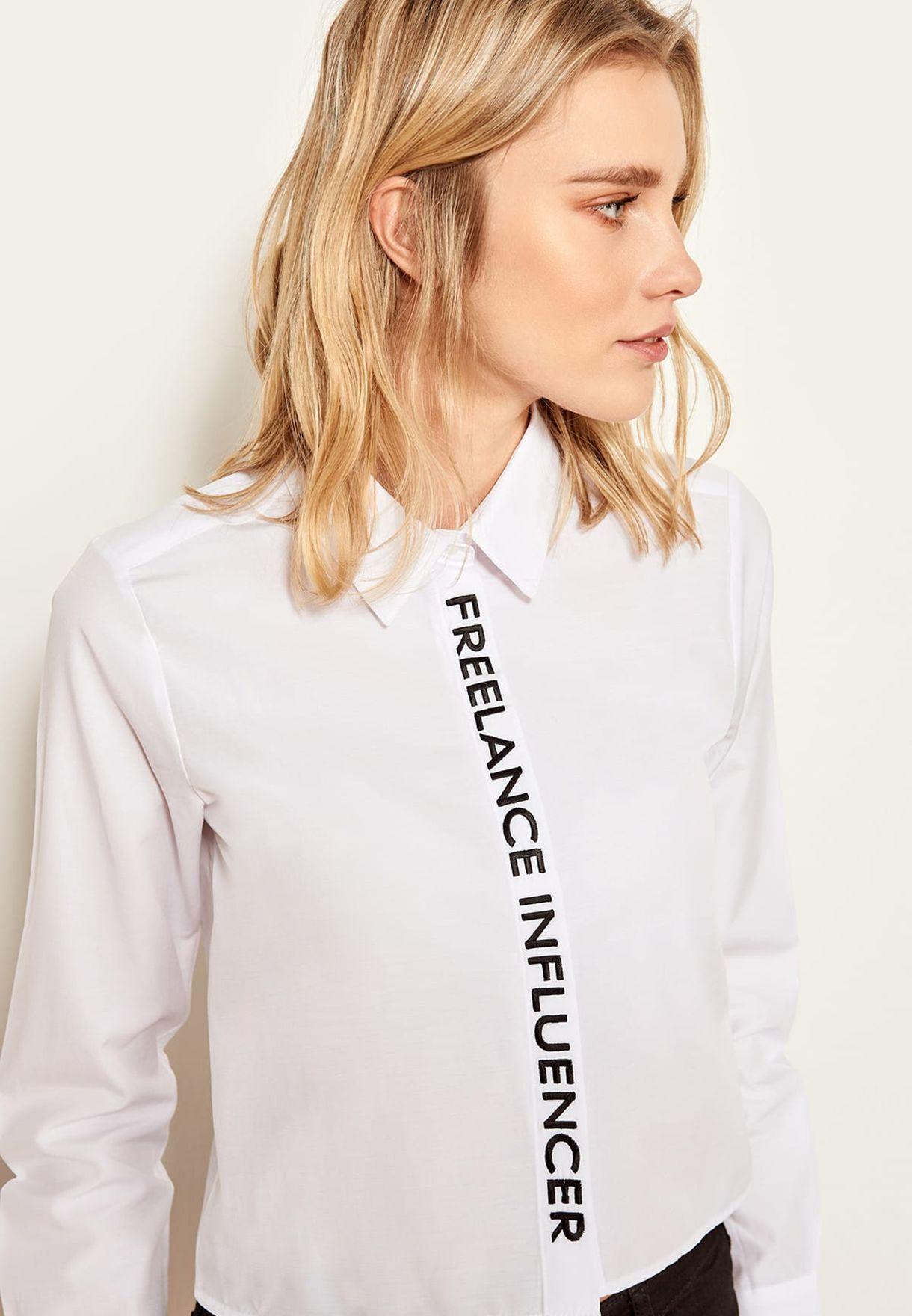 Slogan Long Sleeve Shirt