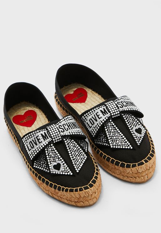Wide Fit Logo Espadrille