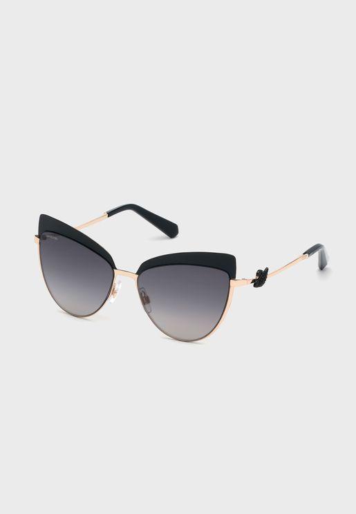 نظارة شمسية مزينة بـشكل سوان