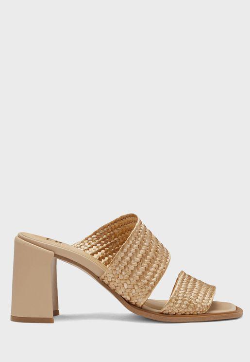Elaina Double Strap Block Heel Sandal