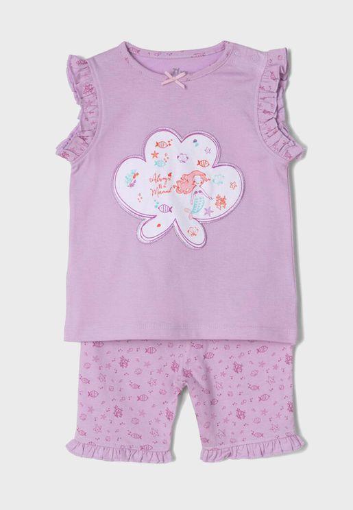 Infant  Graphic Top + Shorts Set
