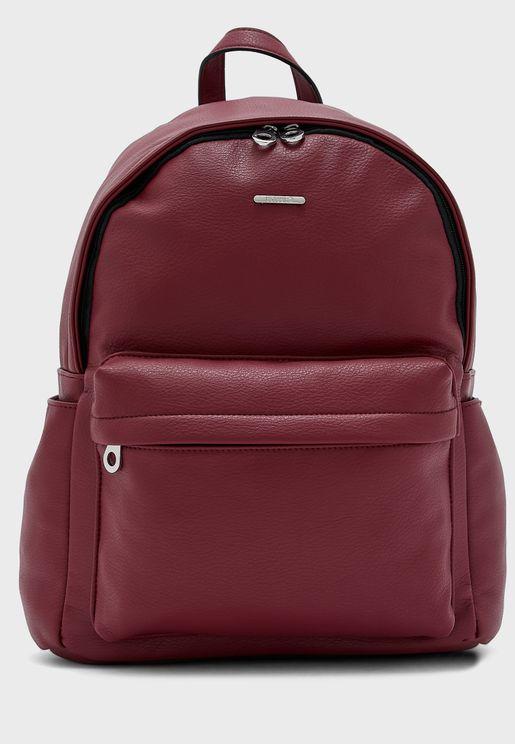 Front Zip Detail Backpack