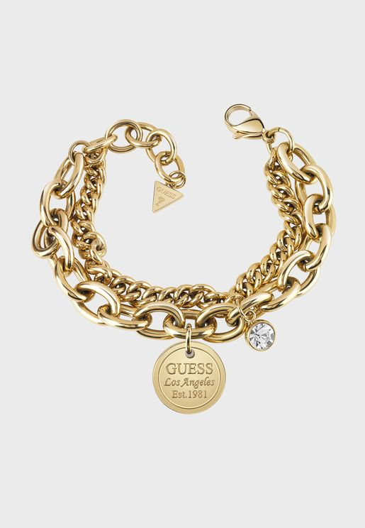 Double & Logo Chain Bracelet