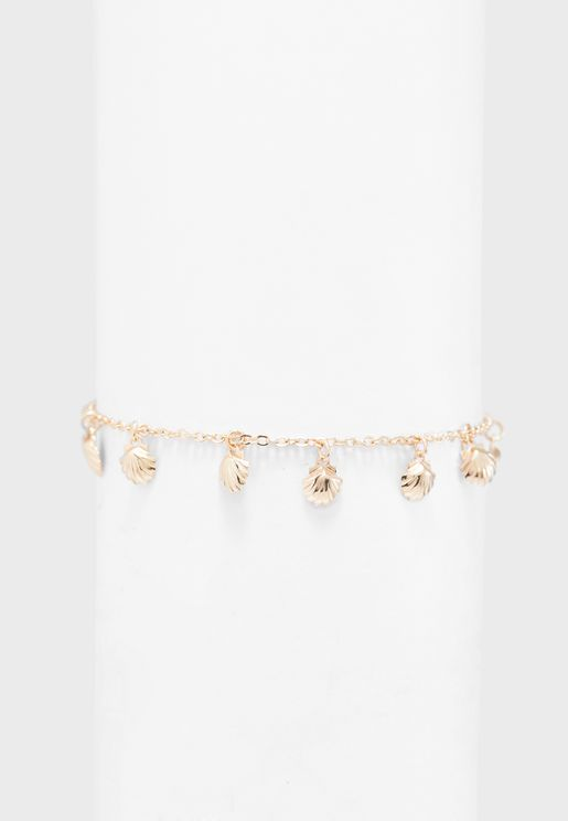 Mini Shell Drop Chain Bracelet