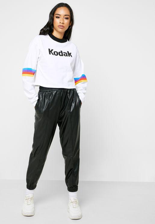 PU Jogger Pants