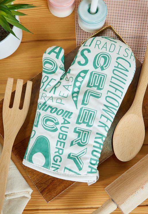 Porter Printed Single Oven Glove