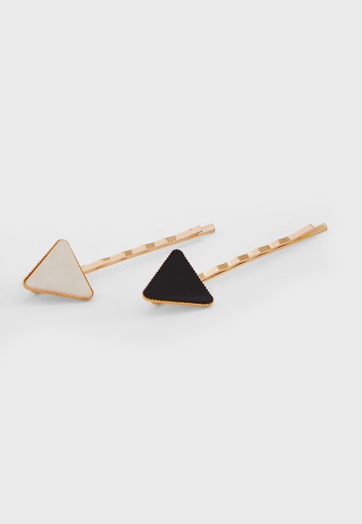 2-Pack Triangle Stone Set Slides