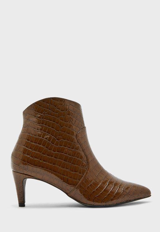 Mila Mid Heel Ankle Boot