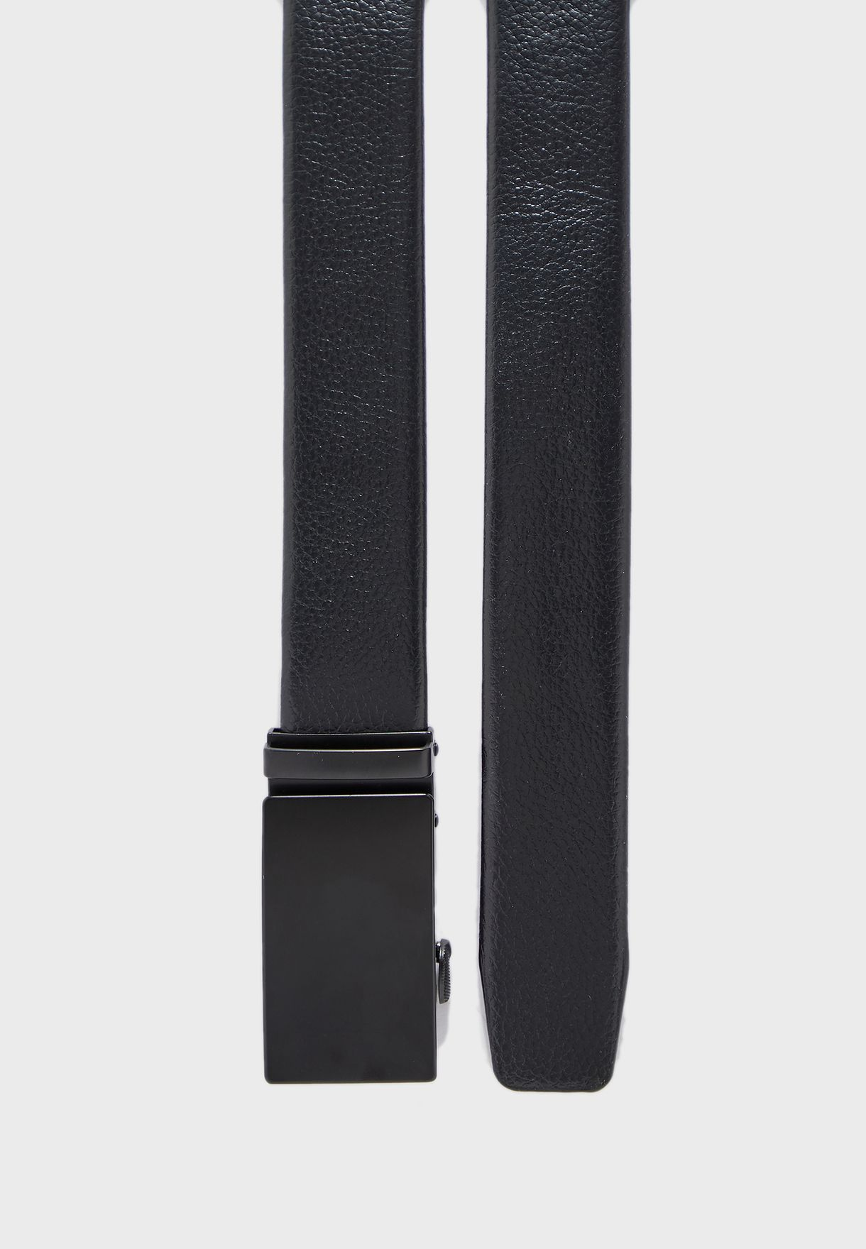 Formal Faux Leather Plaque Belt