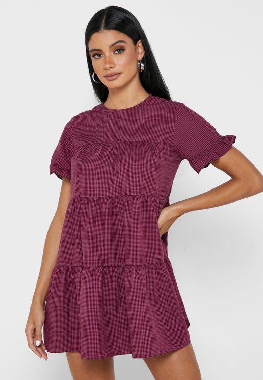 Frill Sleeve Detail Dress