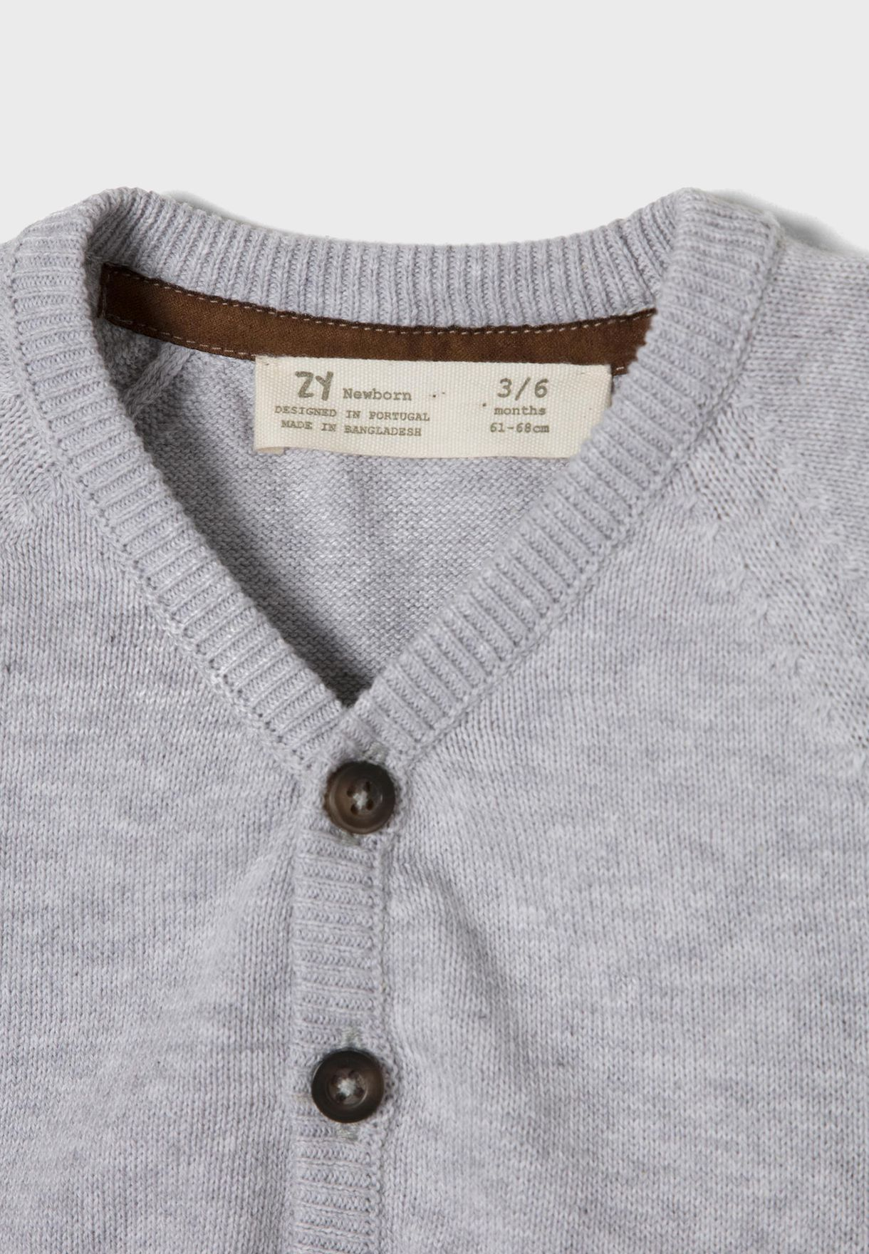 Infant Button Detail Knitted Cardigan