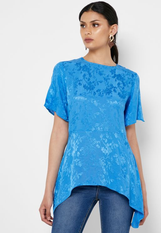 Asymmetric Jacquard Top