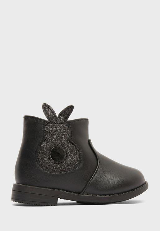 Infant Glitter Rabbit Boots