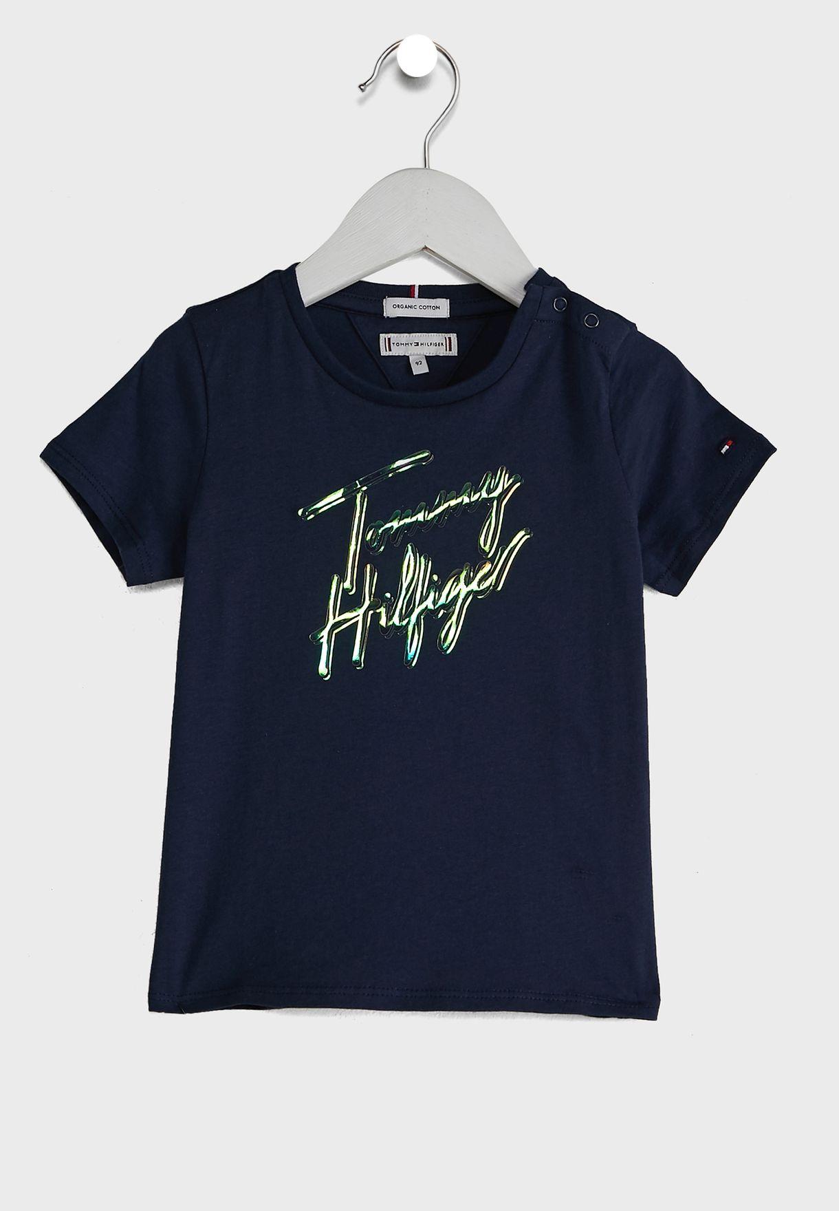 Kids Script Printed T-Shirt