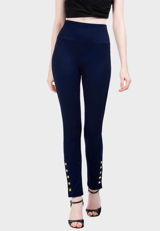 Stud Detail Pants