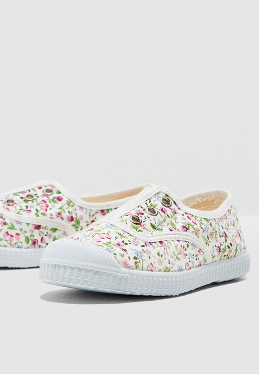 Kids Floral Print Slip On