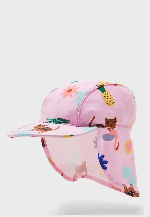 Kds Floral Swim Hat