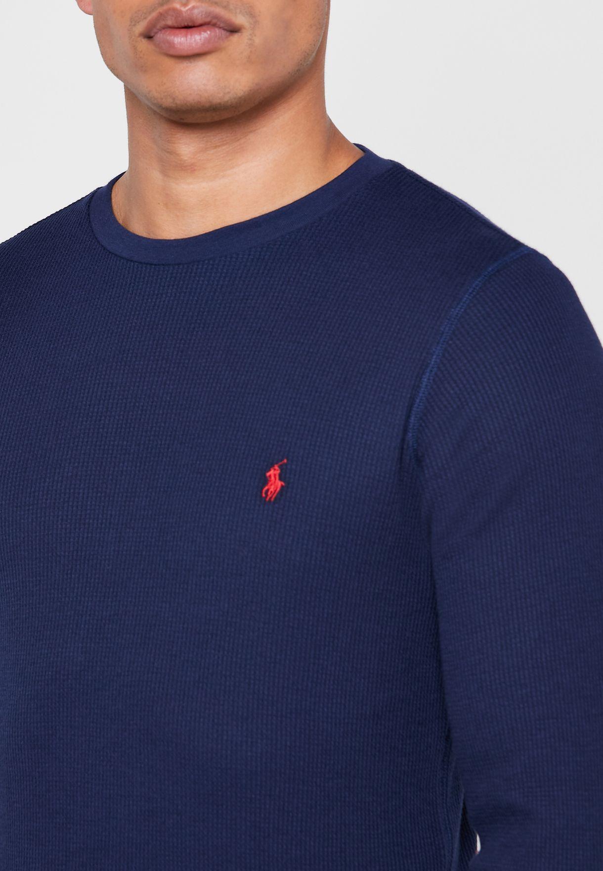 Ribbed Crew Neck T-Shirt
