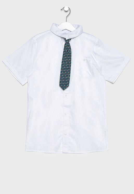 قميص بفيونكة