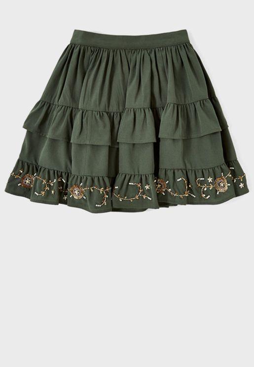 Teen Orchid Skirt