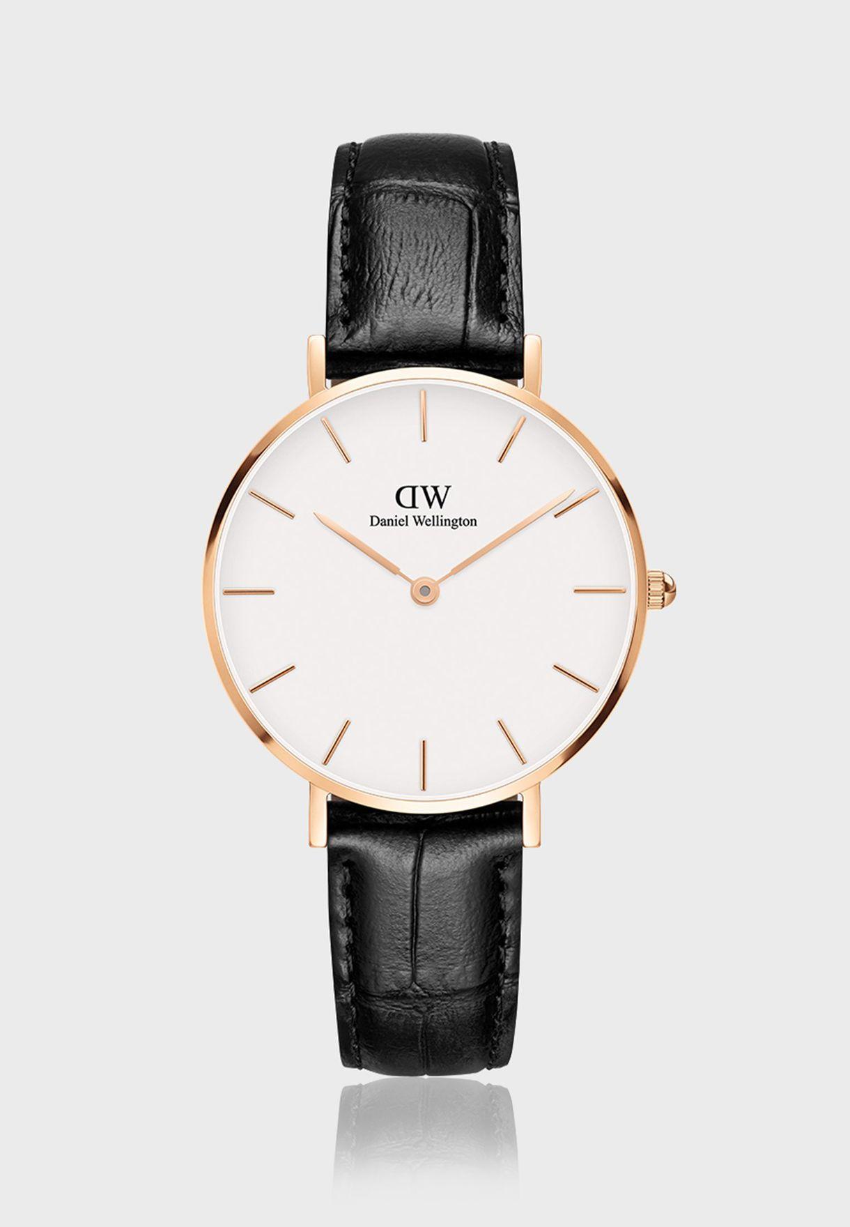 ساعة بيتيت ريدنج ار جي  بيضاء 32 ملم