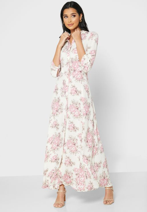 فستان مطبع بكسرات