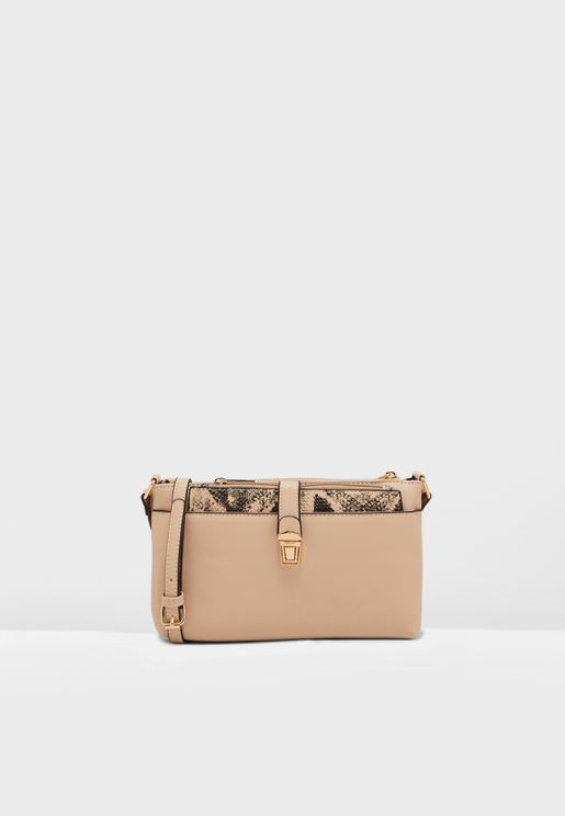 Snake Pushlock Crossbody