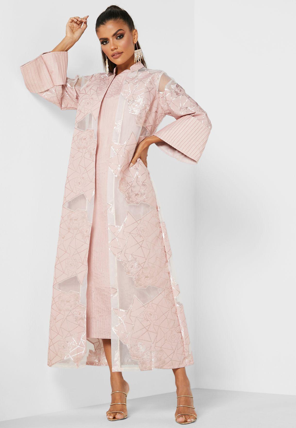 فستان كيمونو بتفاصيل ميتاليك