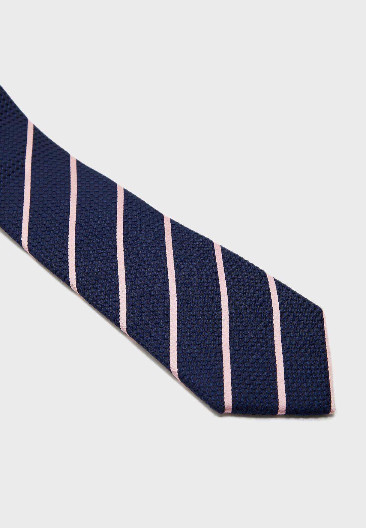 Textured Overstripe Tie