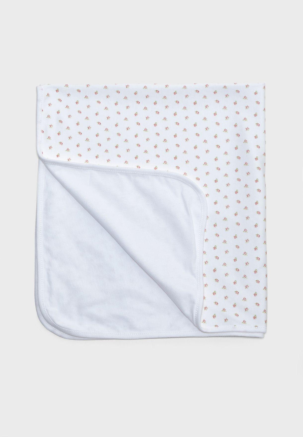 بطانية بطباعة ازهار