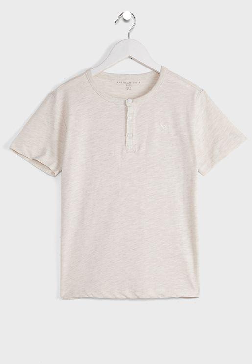 Kids Essential  Henley T-Shirt