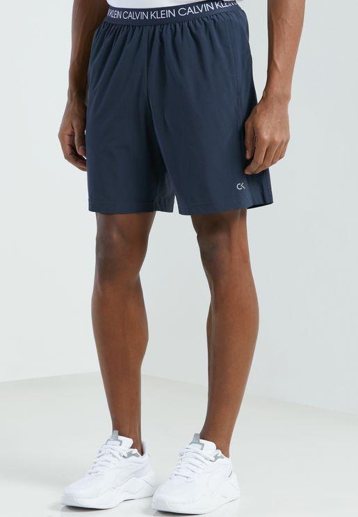 "7"" Logo Waist Woven Shorts"