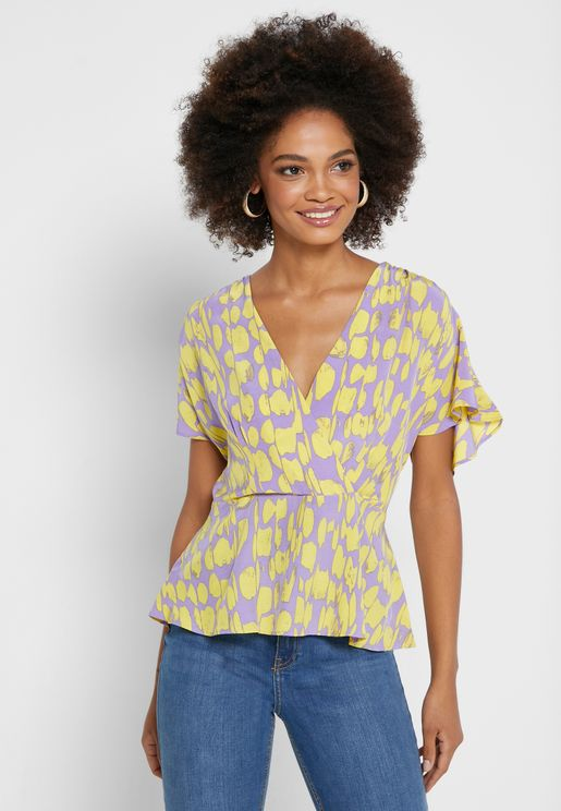 Islanna Belted Printed Top