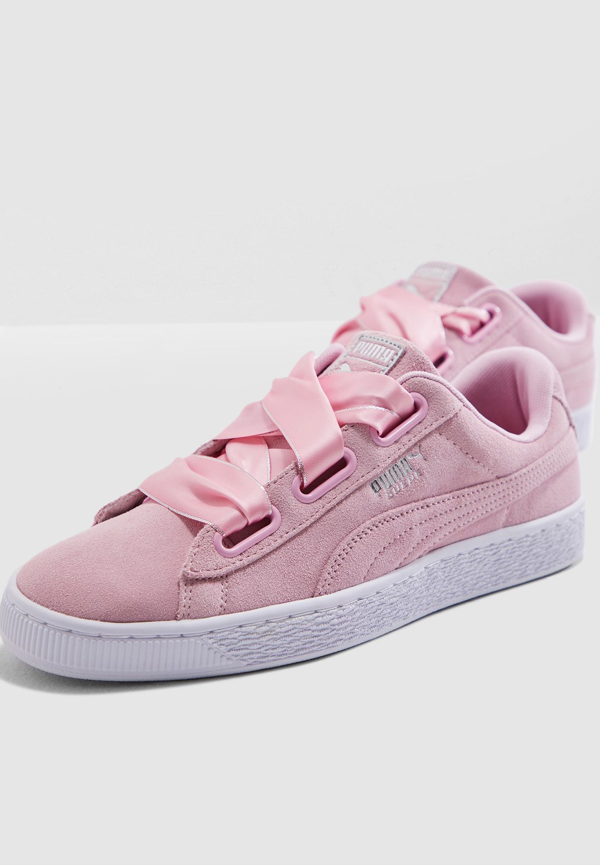 f1a799bb66fa15 Shop PUMA pink Suede Heart Galaxy 36923201 for Women in Qatar - 20000SH54WBP
