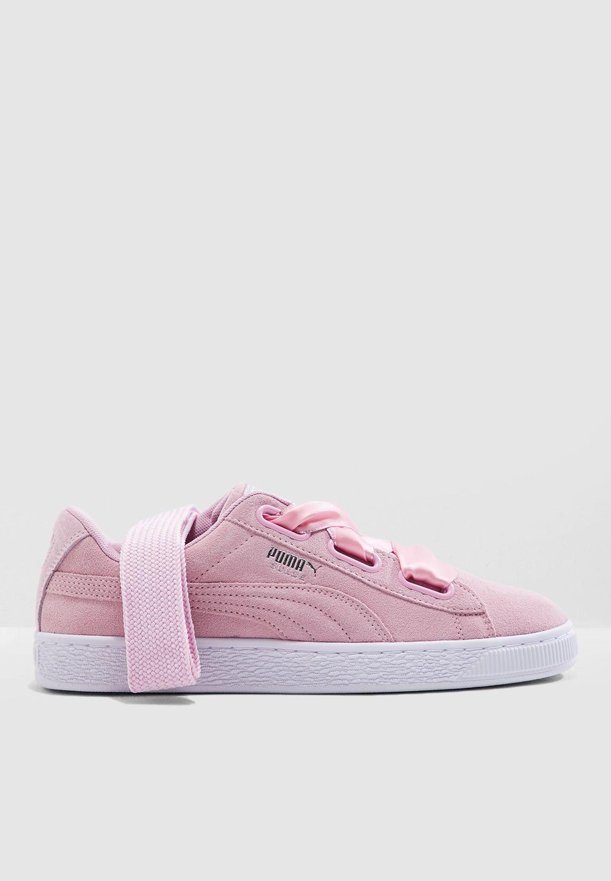 d5a42031f9ab57 Shop PUMA pink Suede Heart Galaxy 36923201 for Women in Qatar ...