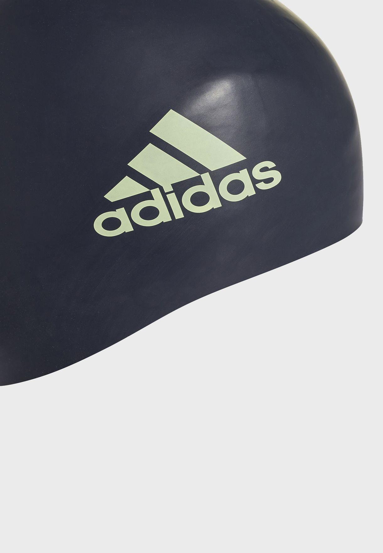 3 Stripe Silicone Swim Cap